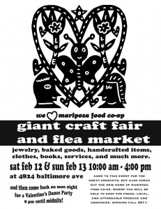 Mariposa Craft Fair flyer