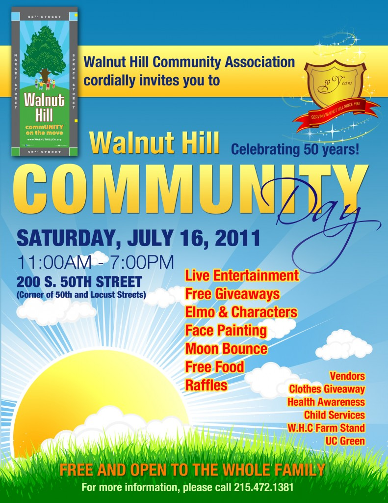 Walnut Hill Community Day Poster