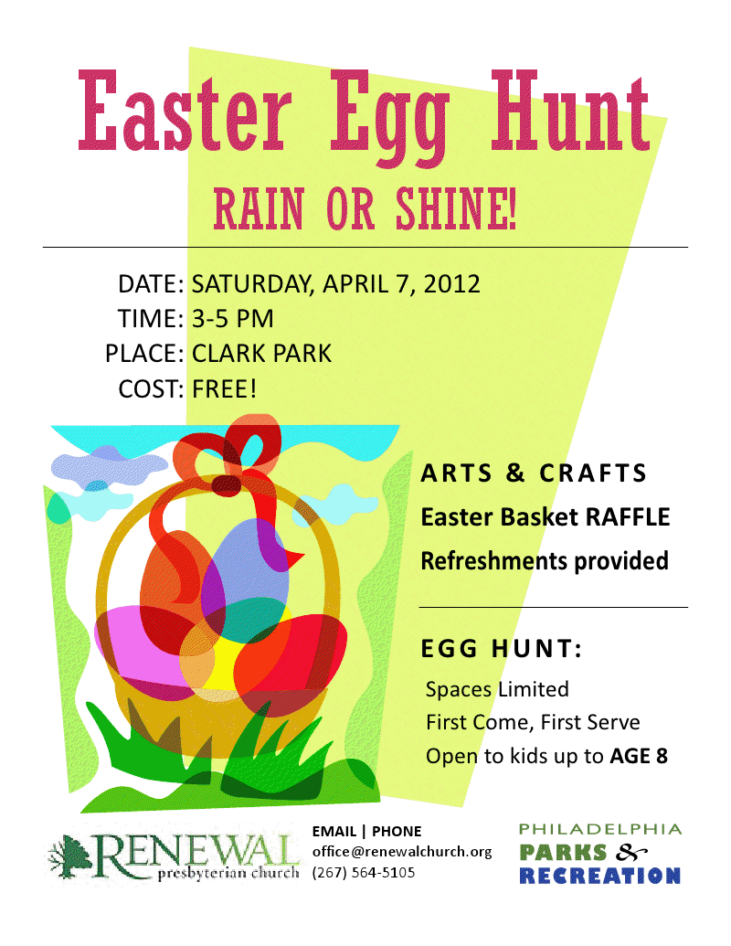 Easter Egg Hunt on Sat, April 7 at Clark Park | West Philly Local