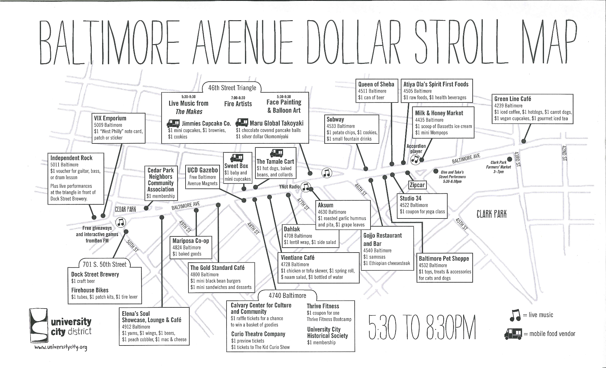 Baltimore Avenue Dollar Stroll Begins At 530pm Check Out