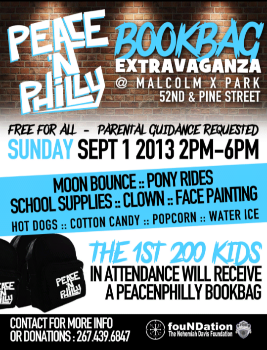 Here S A Reminder That There Will Be Back To School Celebration And Book Bag Giveaway On Sunday Sept 1 At Malcolm X Park 51st Pine