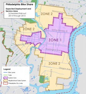 Philly Bikeshare map