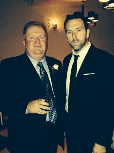 Detective Joe Murray of PPD's Southwest Detectives Division with his father at a recent family wedding (Photo provided by Det. Murray)