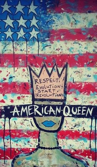 """Art part of """"American Queen"""" series from Tiffany Davis (Photo courtesy of Dais)"""