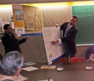 Representatives from The City School explaining their plans to SHCA (Photo by Annamarya Scaccia / West Philly Local)
