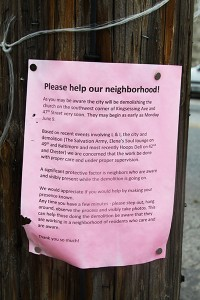 A note from nearby neighbors. (Click to enlarge.)