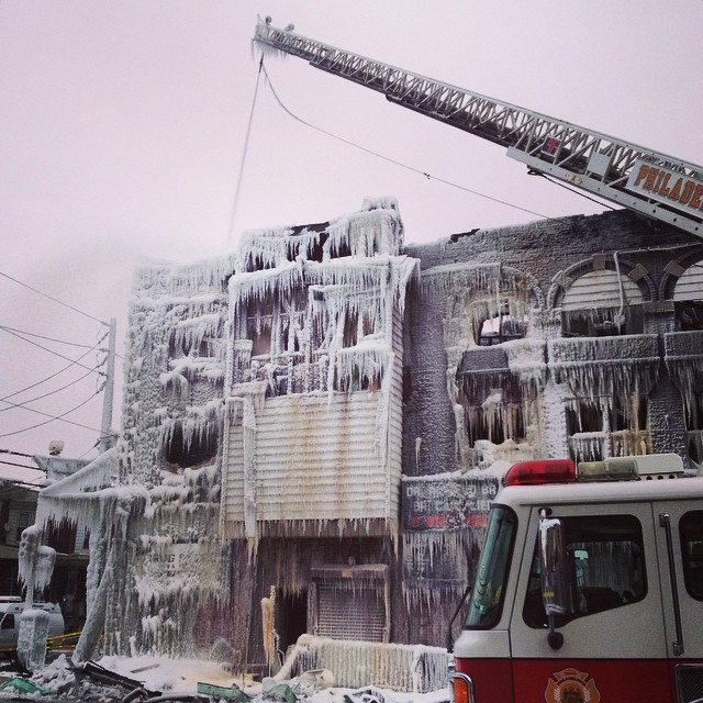 Fire turns into ice on 52nd St near Locust | West Philly Local