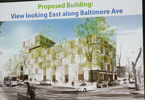 The proposed apartment complex at 43rd and Baltimore.