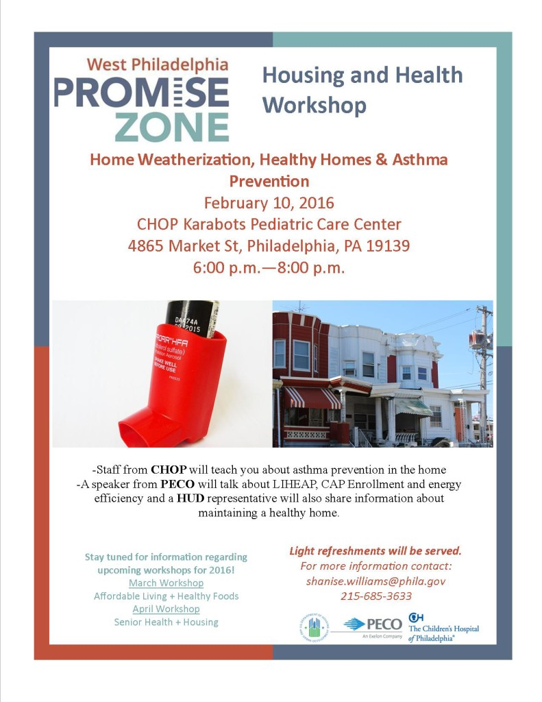 Promise Zone Home Weatherization, Healthy Homes & Asthma