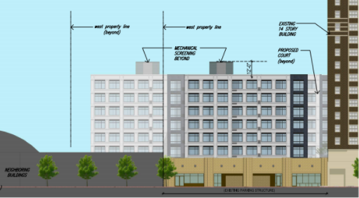 new apartment complex proposed on top of garden court plaza parking garage community meeting next thursday - Garden Court Apartments