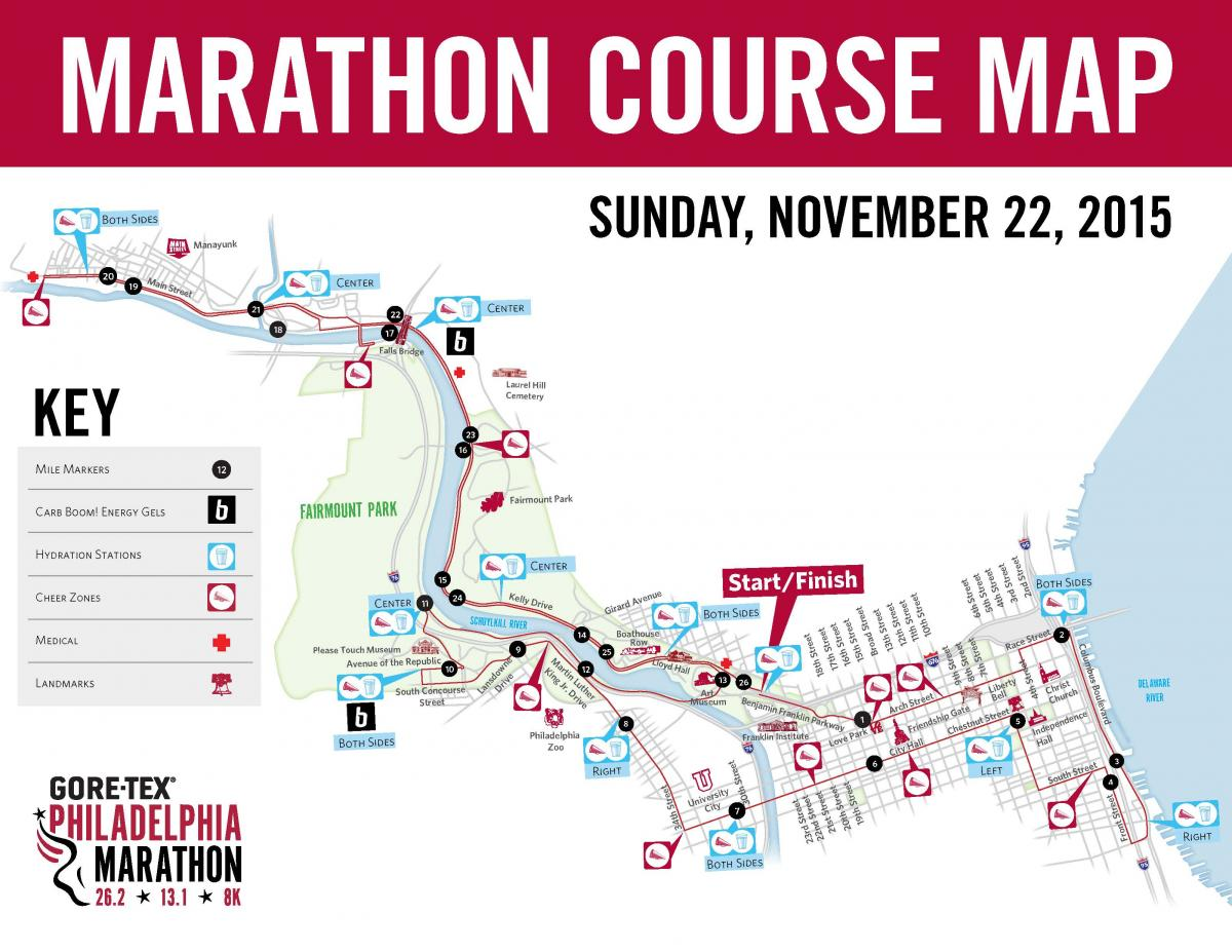 Philadelphia Marathon Map Philadelphia Marathon is this Sunday: street closures, detours